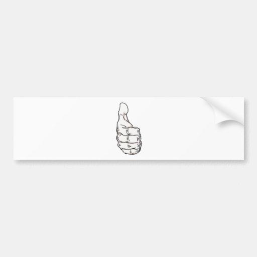 Thumbs Up Bumper Sticker