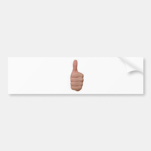 Thumbs up! bumper stickers