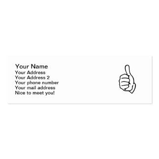 Thumbs up business card template