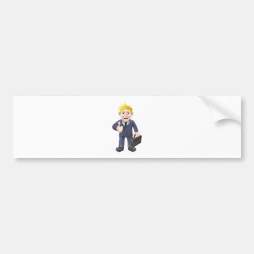 Thumbs up businessman bumper sticker