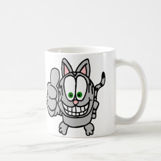 Thumbs Up Cartoon Cat Mug