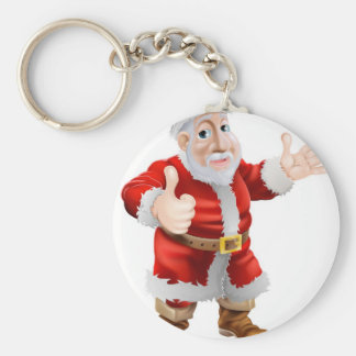 Thumbs up cartoon Santa Keychains