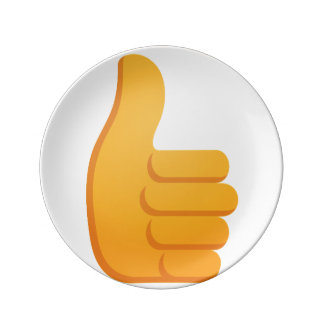Thumbs Up Emoji Plate