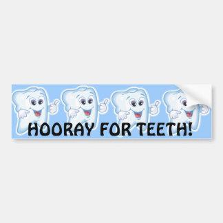 Thumbs up for dental hygiene! bumper sticker