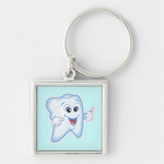 Thumbs up for dental hygiene! keychains