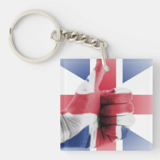 thumbs up for uk acrylic key chain