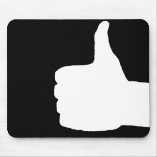 Thumbs Up Gesture, Black Back Mouse Mat