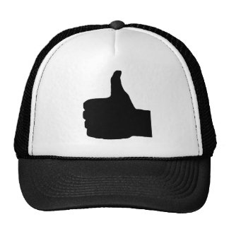 Thumbs Up Gesture, White Back Cap