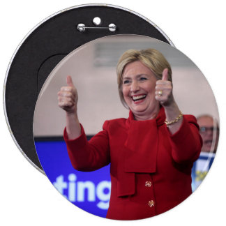Thumbs Up! Hillary Clinton HUGE Button