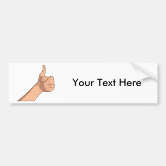 Thumbs Up / Hitchhiking Hand Sign Gesture 2 Car Bumper Sticker