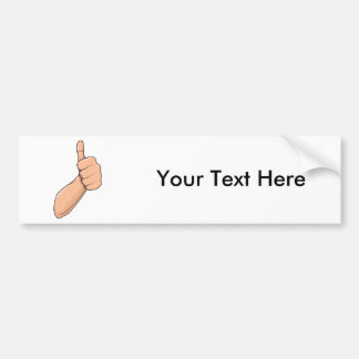 Thumbs Up / Hitchhiking Hand Sign Gesture 3 Car Bumper Sticker