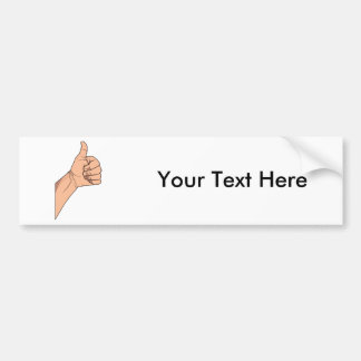 Thumbs Up / Hitchhiking Hand Sign Gesture Car Bumper Sticker