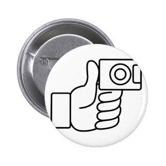 Thumbs Up Like Photo Icon 6 Cm Round Badge