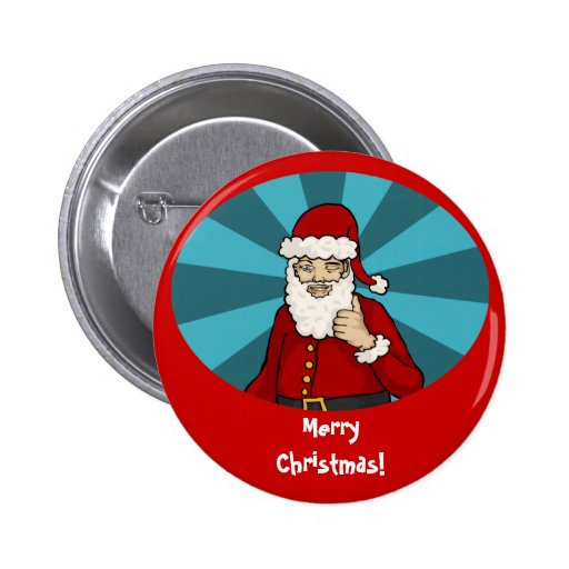 Thumbs Up, Santa - button