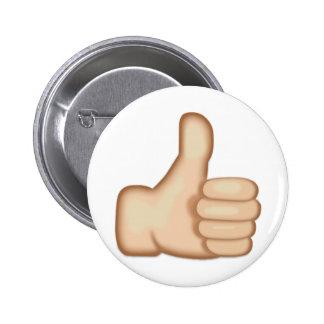 Thumbs Up Sign Emoji 6 Cm Round Badge