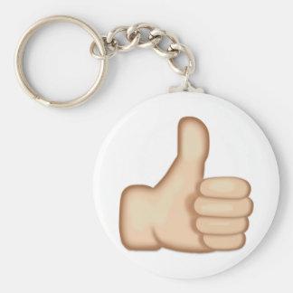 Thumbs Up Sign Emoji Basic Round Button Key Ring
