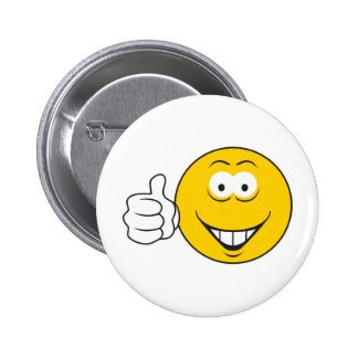 Thumbs Up Smiley Face 6 Cm Round Badge