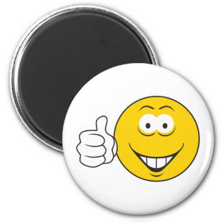 Thumbs Up Smiley Face 6 Cm Round Magnet