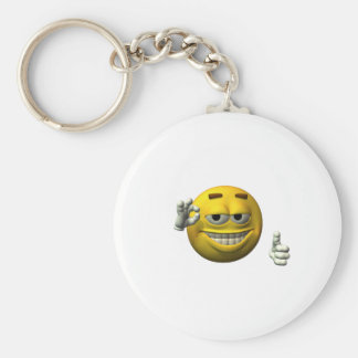 Thumbs Up Smiley Face character Keychain