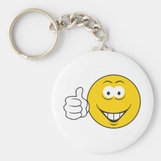 Thumbs Up Smiley Face Key Chains