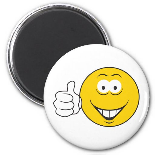 Thumbs Up Smiley Face Fridge Magnets