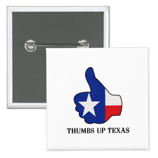 Thumbs Up Texas 15 Cm Square Badge