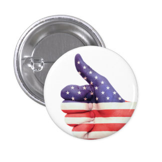 Thumbs Up USA 3 Cm Round Badge