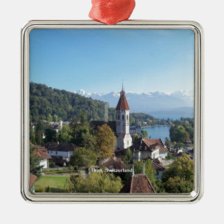 Thun, Switzerland landscape Christmas Ornament