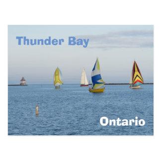 Thunder Bay - boats Postcard