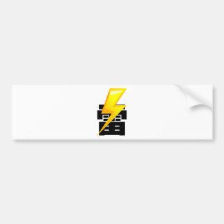 Thunder fret letter bumper sticker