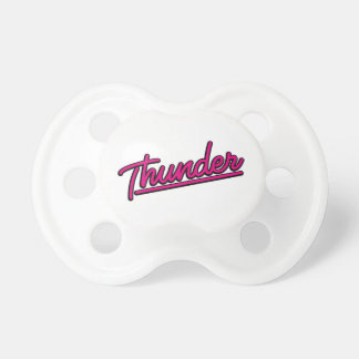 Thunder in magenta BooginHead pacifier