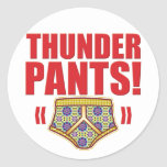 Thunder Pants Flowery Round Stickers