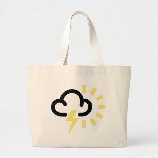 Thunder Storm: Retro weather forecast symbol Bag
