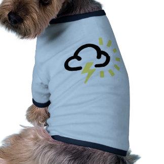 Thunder Storm Retro weather forecast symbol Pet Clothes