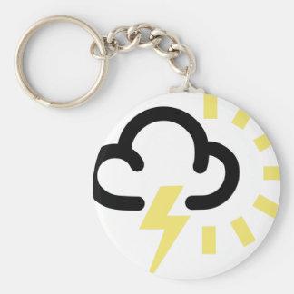 Thunder Storm Retro weather forecast symbol Key Chain