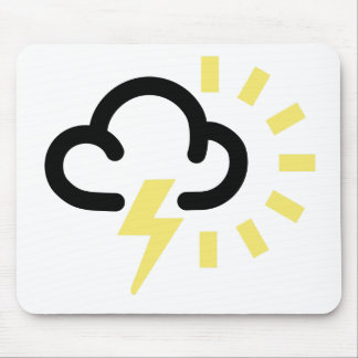 Thunder Storm: Retro weather forecast symbol Mouse Mat