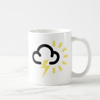 Thunder Storm: Retro weather forecast symbol Coffee Mugs