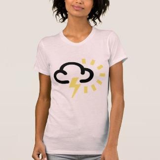 Thunder Storm: Retro weather forecast symbol Shirts