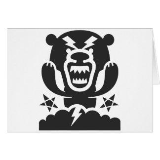 Thunderbear Original Character Design Greeting Card