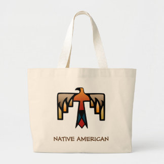 Thunderbird - Native American Indian Symbol Large Tote Bag