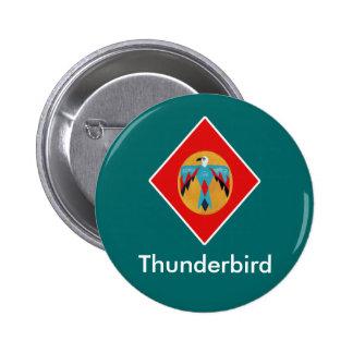 Thunderbird Red Diamond 6 Cm Round Badge
