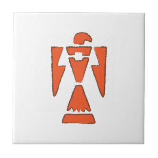 ThunderBird - Southwest Indian Design Small Square Tile
