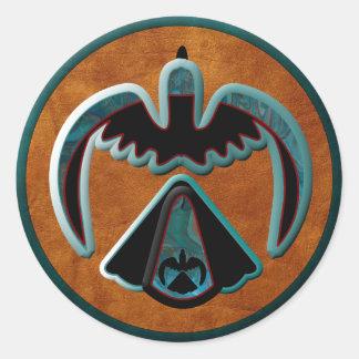 Thunderbird Round Stickers