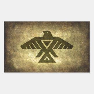 Thunderbird - Vintage parchment texture Rectangular Sticker