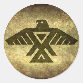 Thunderbird - Vintage parchment texture Round Sticker