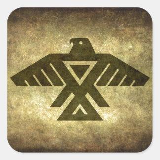 Thunderbird - Vintage parchment texture Square Sticker