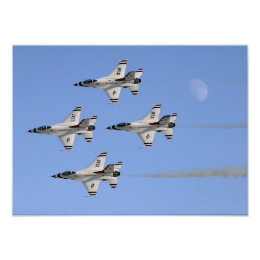 Thunderbirds flying in formation Poster