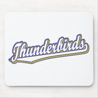 Thunderbirds in White Blue and Gold Mouse Pad