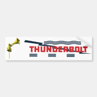Thunderbolt Civil Defense Siren Bumper sticker
