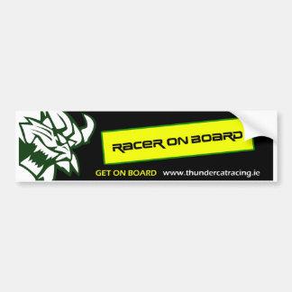 Thundercat Racing - Racer On Board Bumpersticker Bumper Sticker